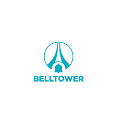 Bell tower logo design icon isolated element vector