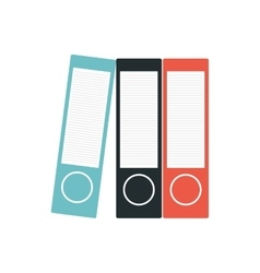binders file folder office supplies vector image