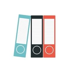 Binders file folder office supplies vector
