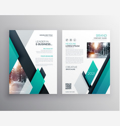 Blue brochure template layout cover design for vector