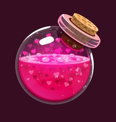 Bottle love game icon magic elixir vector