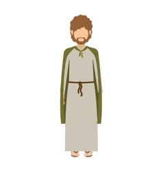 cartoon sain joseph vector image