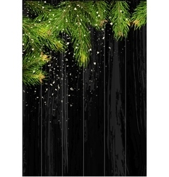 Christmas card background with fir tree and vector