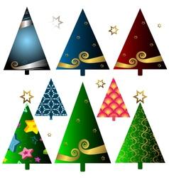 christmas decorative trees vector image