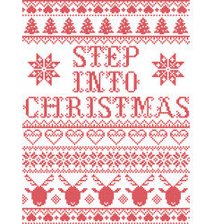 Christmas pattern step into christmas carol vector
