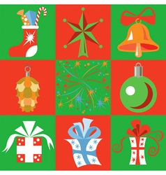 Christmas toys and gifts vector