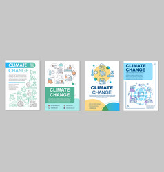 climate change brochure template layout vector image