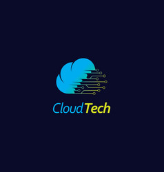 cloud logo design template computing and storage vector image