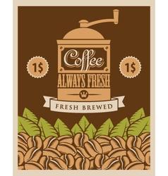 Coffee retro vector