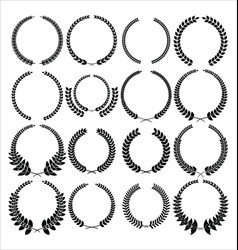 Collection of wreaths vector