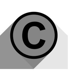 Copyright sign black icon vector