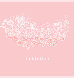 decorative tender pastel color sakura flowers vector image