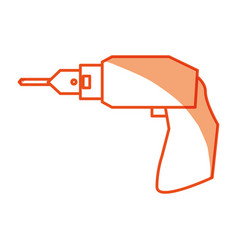 drill electric tool vector image
