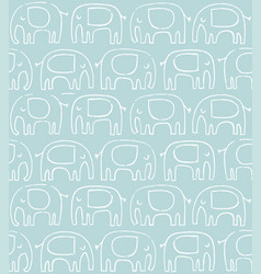 elephant pattern hand drawn doodle vector image