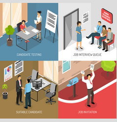 Employment isometric design concept vector