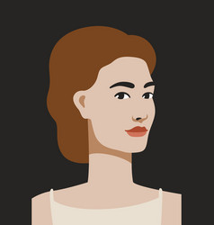 face avatar beautiful woman on dark vector image