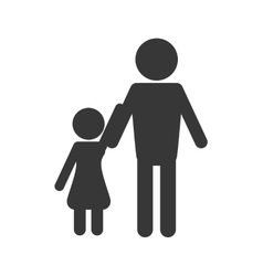 family pictogram icon vector image