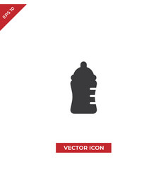 feeding bottle icon vector image