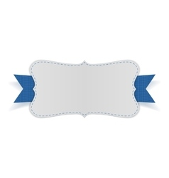Festive empty Card on blue Ribbon vector