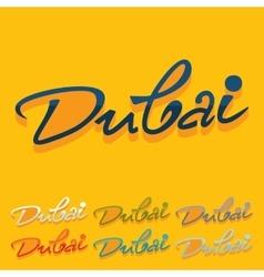 Flat design Dubai vector