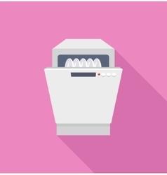 Flat icon dishwasher vector image