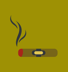 flat icon on background cuba cigar vector image