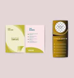 Flyer design elements on website banner vector
