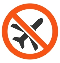 Forbidden Airplane Icon vector image