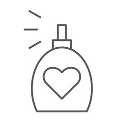 Fragrance thin line icon aroma and love perfume vector