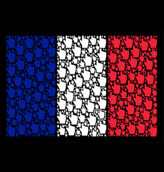 french flag collage of index finger items vector image