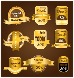 Gold sale banner vector