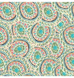 Hand drawn colorful Indian seamless patterns vector