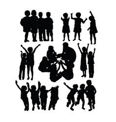 happy kids in school activity vector image