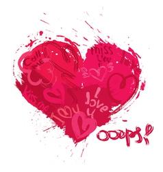 heart grunge 1 380 vector image
