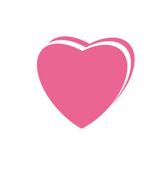 heart pink icon design template isolated vector image