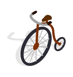 Highwheel bike icon isometric 3d style vector image