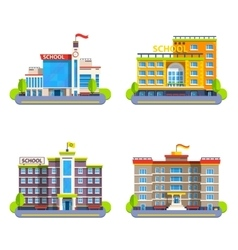 Modern And Classical School Buildings vector image