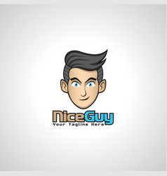 nice guy - good person logo vector image