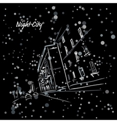 Night city street for your design vector