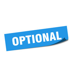 Optional sticker optional square isolated sign vector