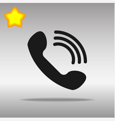 phone black icon button logo symbol vector image vector image