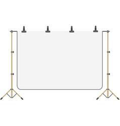 Photo studio empty screen backdrop isolated vector