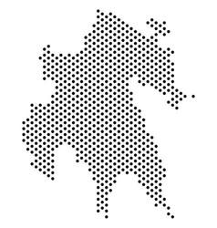 Pixel peloponnese peninsula map vector