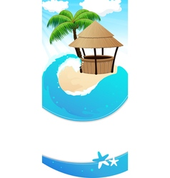 Resort background vector image