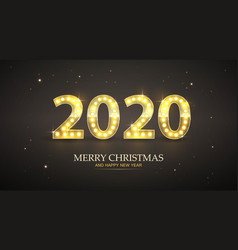 retro count 2020 new year greeting card vector image