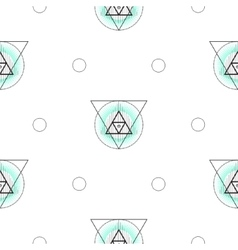 Sacred geometry triangle shapes seamless vector