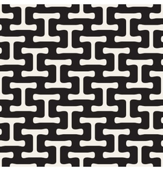 Seamless Black and White Simple Geometric vector image