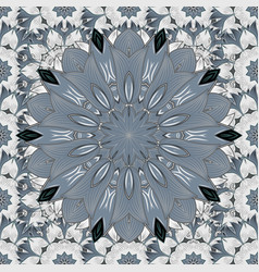 Seamless pattern with mandalas ornaments vector