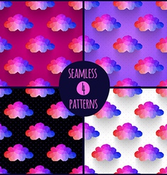 Set of 4 seamless patterns Background made of vector image