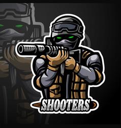 Shooters esport logo mascot design vector